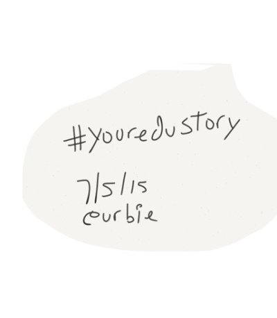 Sketch of Edustory, date, and name